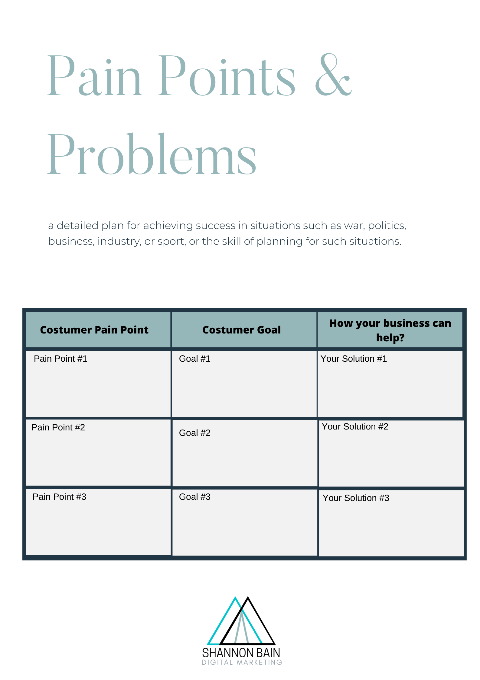 customer personas are a part of this free customer avatar worksheet